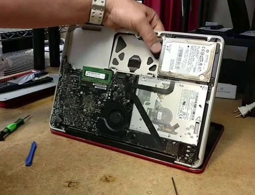 Swollen battery on a MacBook Pro